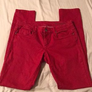 Blank NYC red skinny fit jeans. Size 28